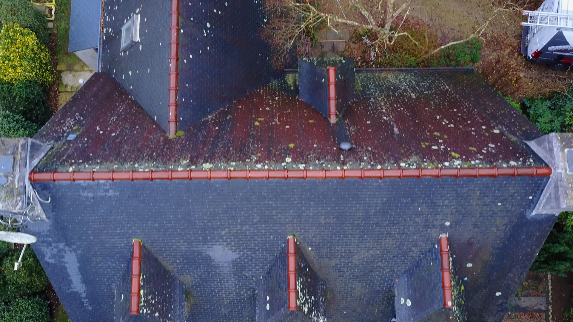 Nettoyage toiture : Avant